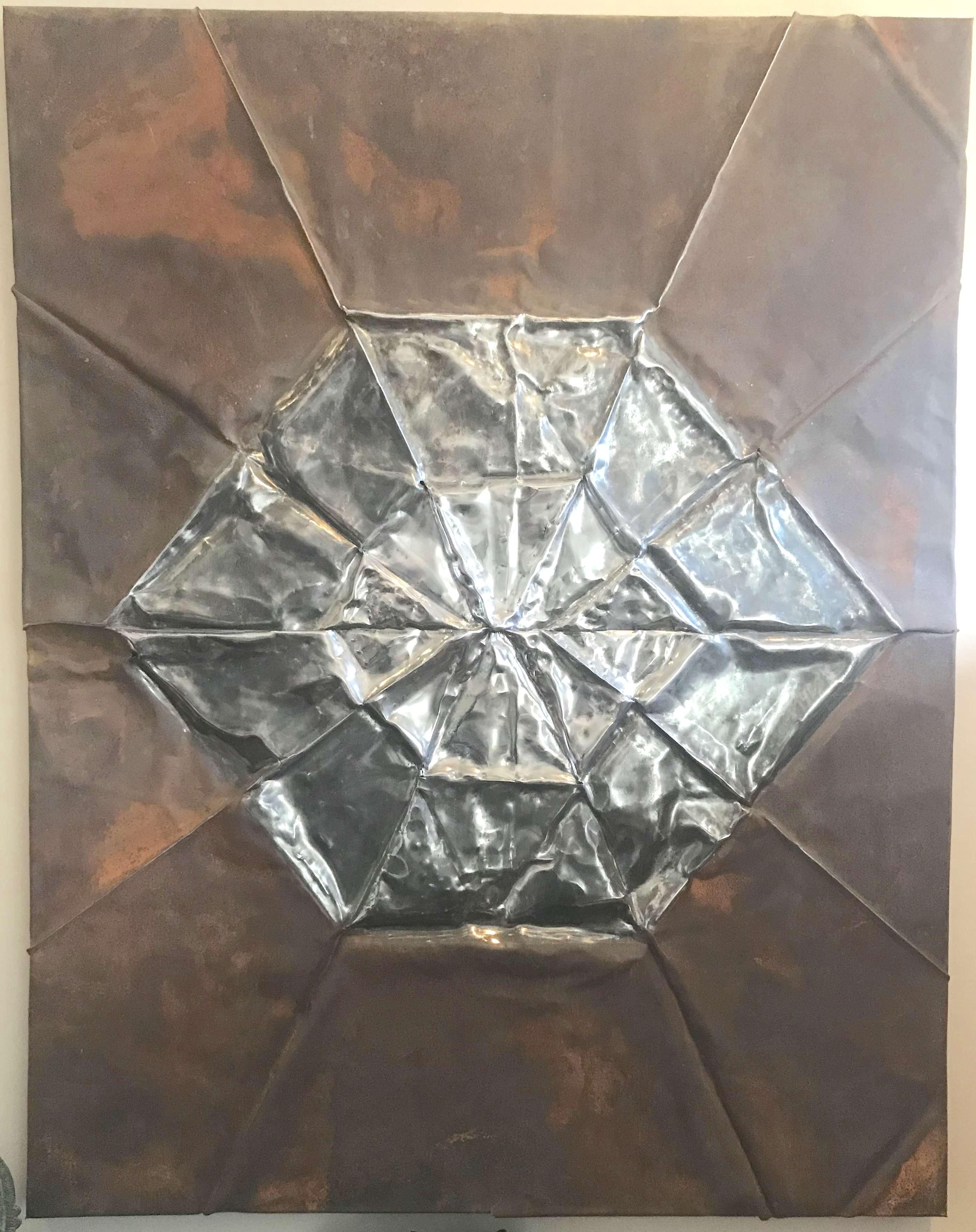 Aleph Naught Formfolded Steel Art
